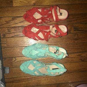 Shoes - 2 for 1 Zara Platform peep-toe Heel sandals bundle